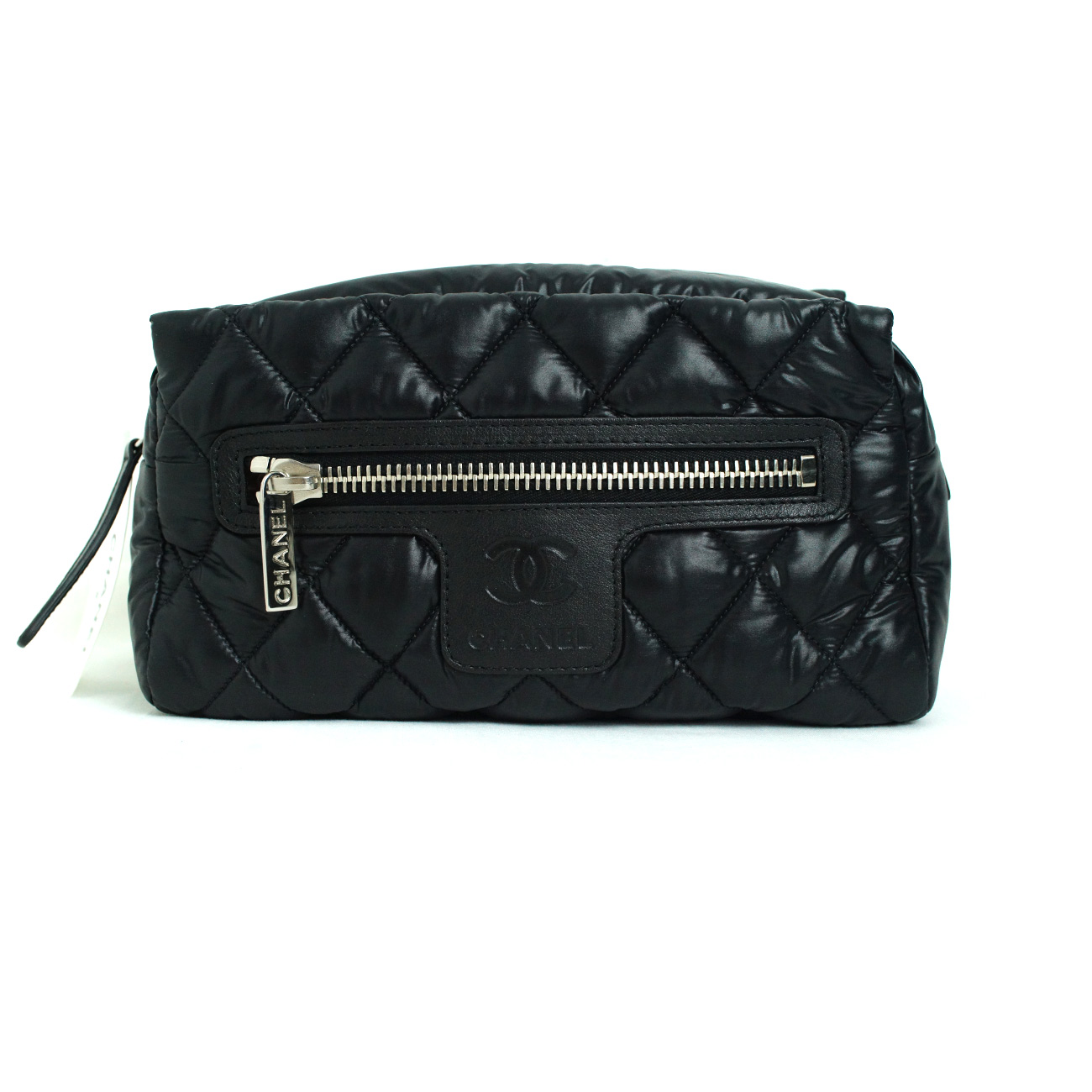 57293d12b Women's :: Small Fashion Goods :: Make-up Bags :: [CHANEL] COCO Cocoon  Black Travel Makeup Pouch / 100% Authentic / New