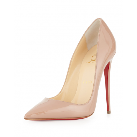 new arrivals 88fbf 2d906 CHRISTIAN LOUBOUTIN So Kate Patent Red Sole Pump, Nude