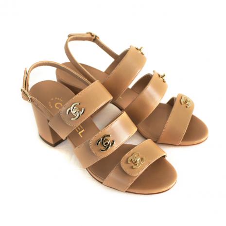 CC turn lock strap sandal