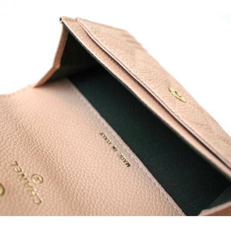 62f4f90e6aca CHANEL] BOY CHANEL 17C leather card case small wallet